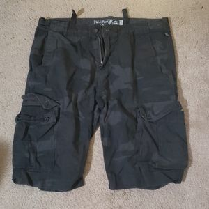 Wear first cargo shorts. Size 36. Army print.